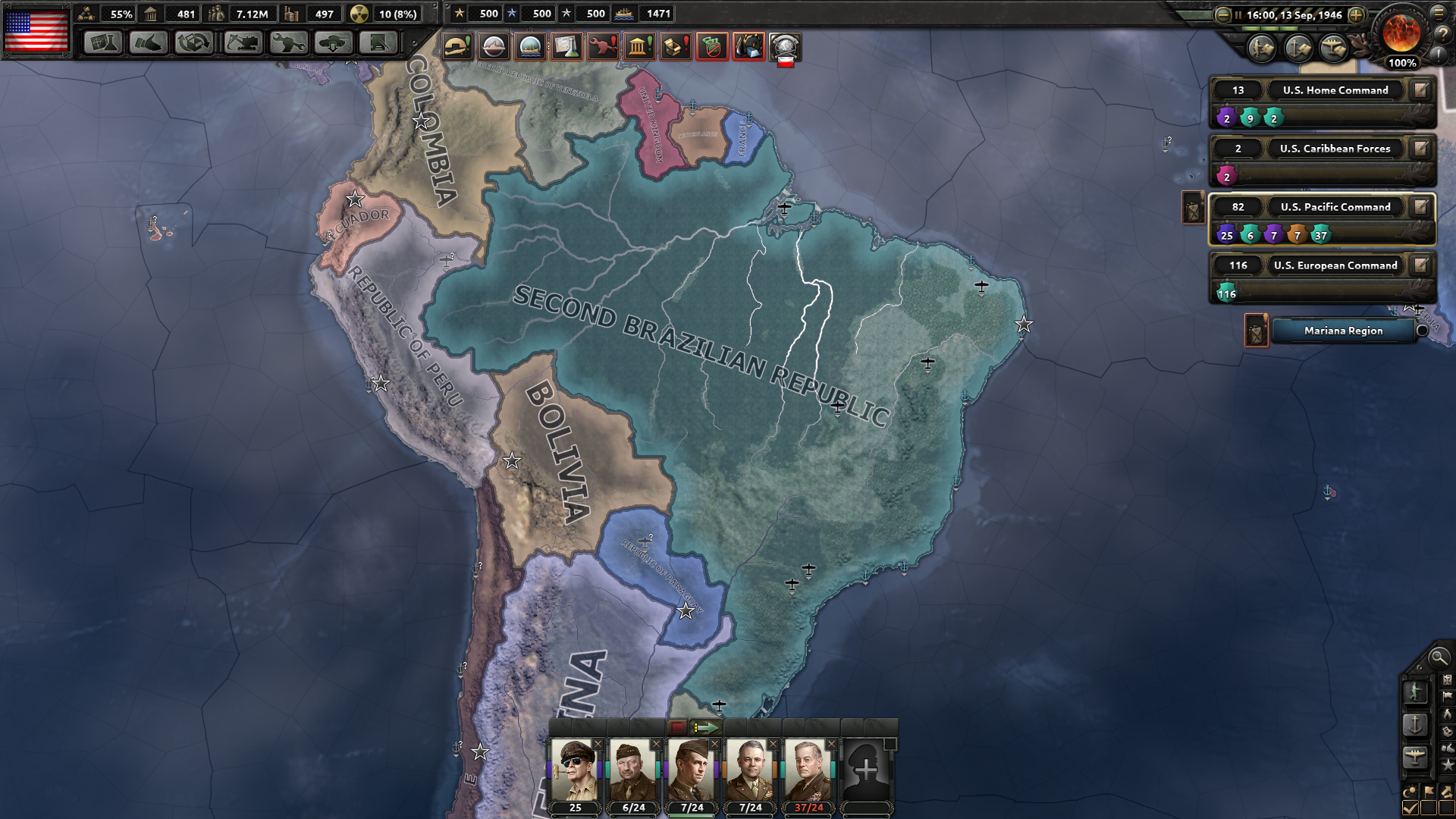 hoi4 how to play south america